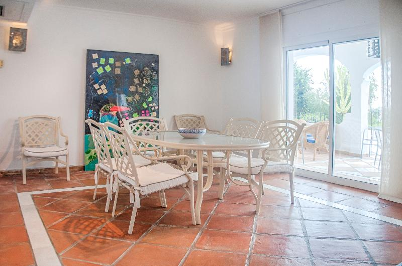 Inside dining room with terrace access