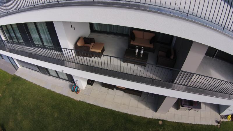 Balcony and terrace with lounge