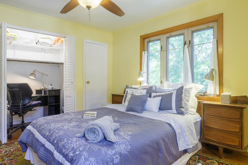 Master Bedroom - An Abundance of Closet and Dresser Space, Home Office and Queen Size Bed