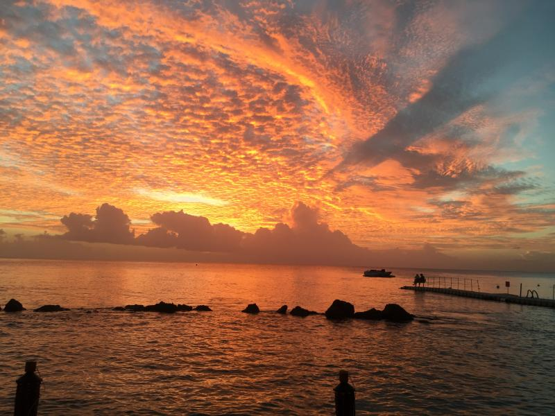 Amazing sunset , photo taken from fish pot restaurant in st peters just a short drive away