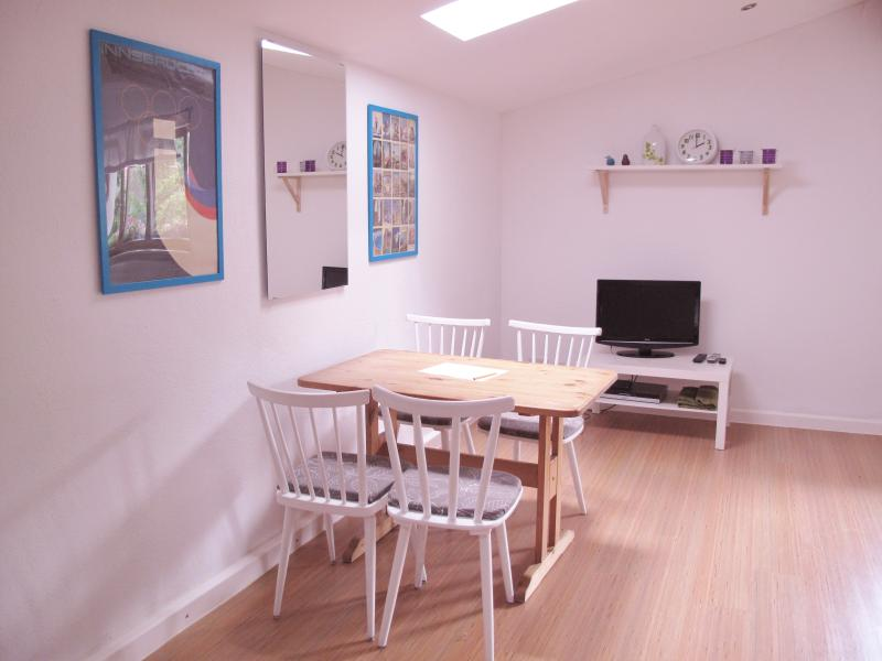 Dining area.  DVD player is provided and WiFi is free.