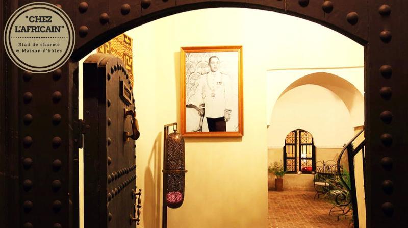 Riad's front door