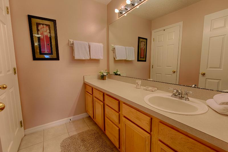 Guest bathroom with shower and vanity unit