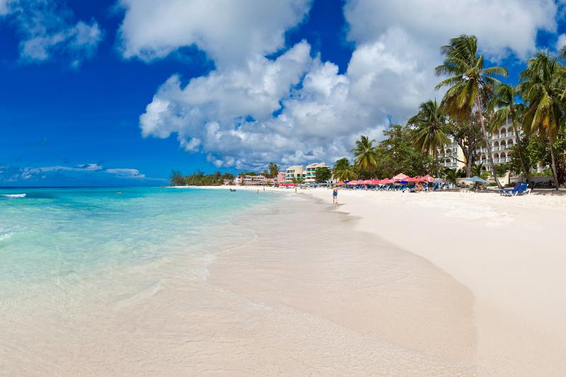 Dover Beach offers umbrella and beach chair rentals along with watersports