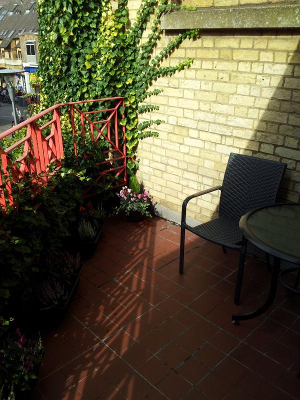 Balcony to relax, have breakfast or just a coffee from the coffee machine.