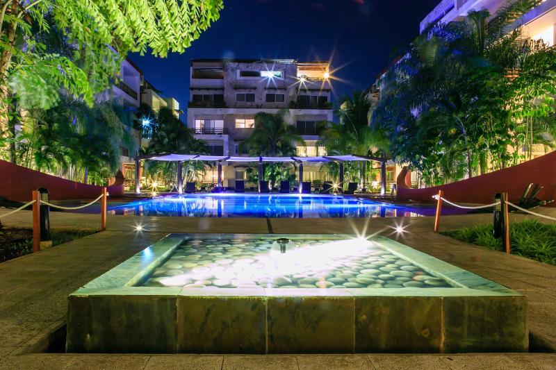 Piscina, acqua, idromassaggio, idromassaggio, Resort