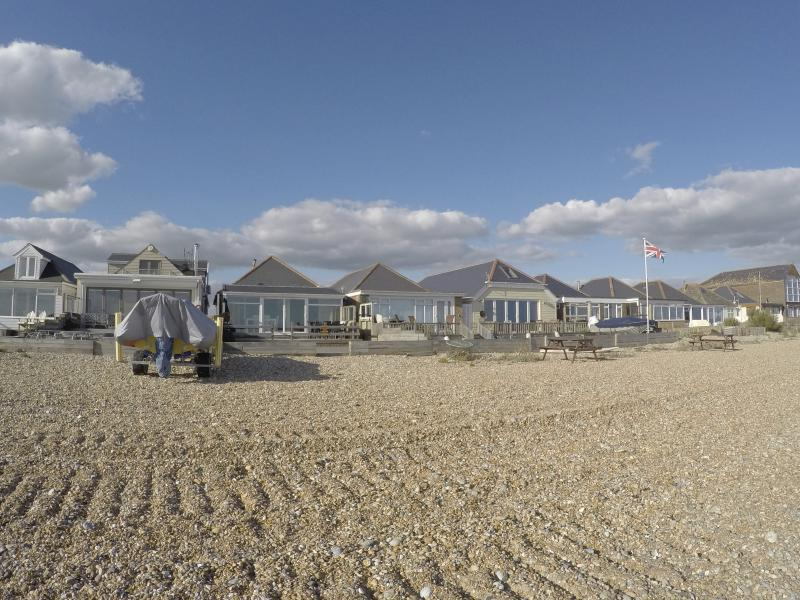 Right on the beach! Our lovely 3 bedroom beach house has the most fantastic views of the coastline.