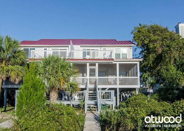 Sunset On The Sound - Comfortable Beach Front Duplex, holiday rental in Edisto Island