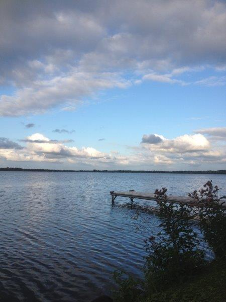Waterfront with long views of Sturgeon Lake. Dock accommodates boat up to 22', swim platform