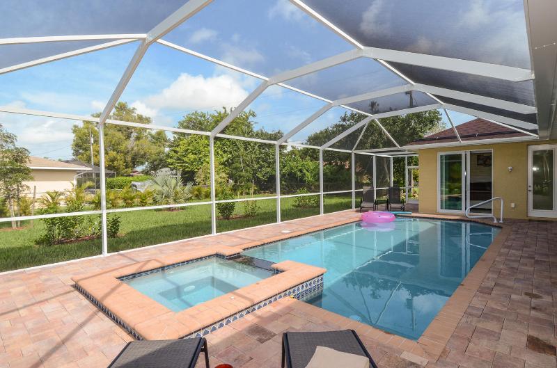 Seewater piscina aquecida com aquecimento solar