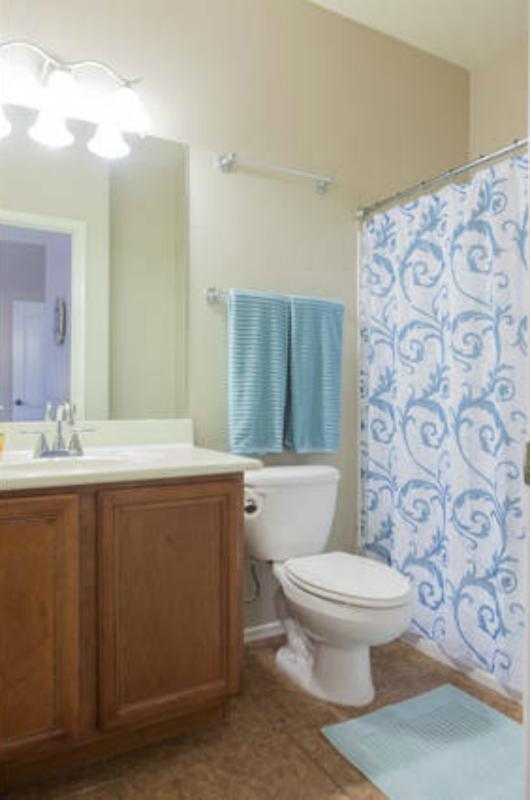 Master bath w/ combo tub/shower