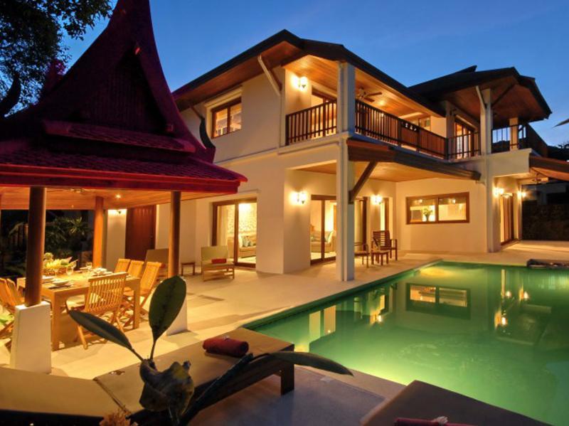 Typische Shiva Samui 3 slaapkamers luxe Beach Villa