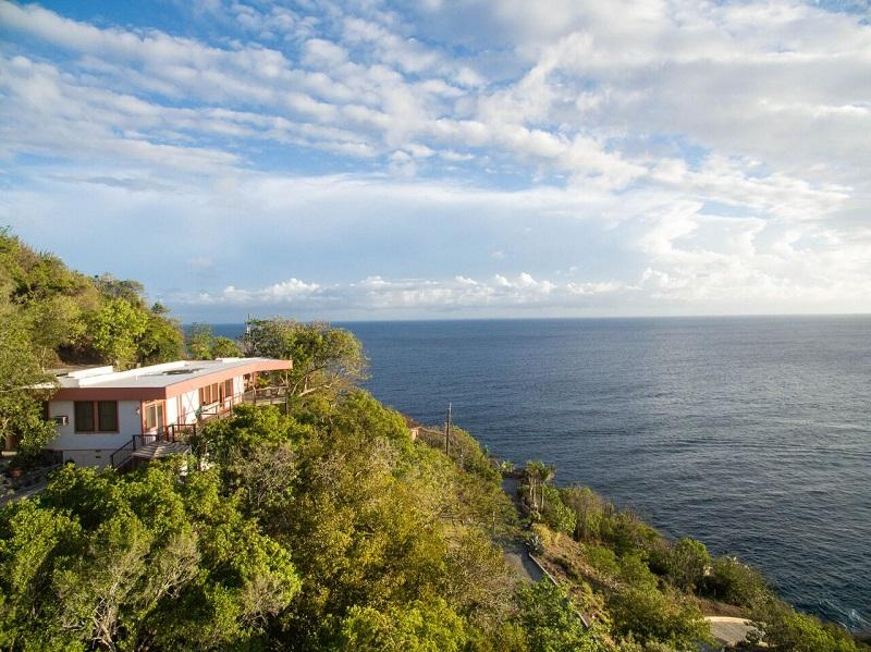 1-Private hillside location on St John's southwest shore