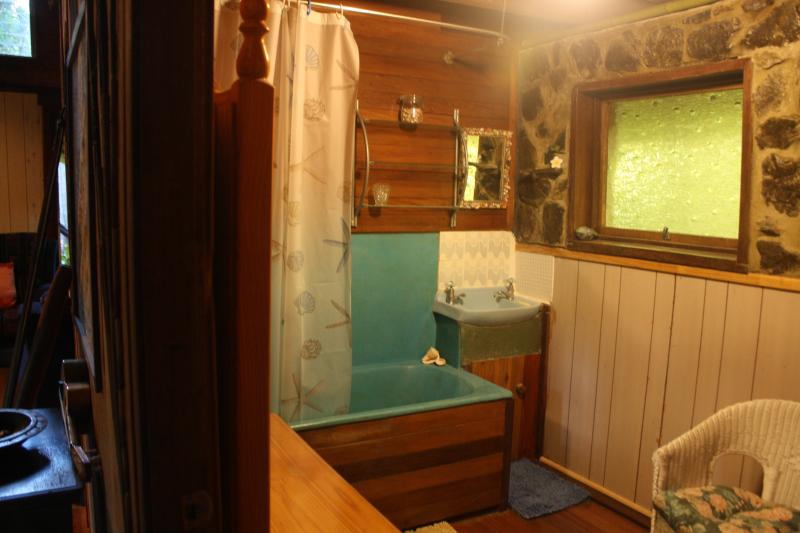 Please note that the shower is low pressure but adequate and there is plenty of hot water.