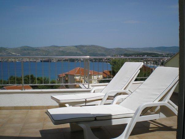 Sunloungers on balcony (23 sq meter balcony)