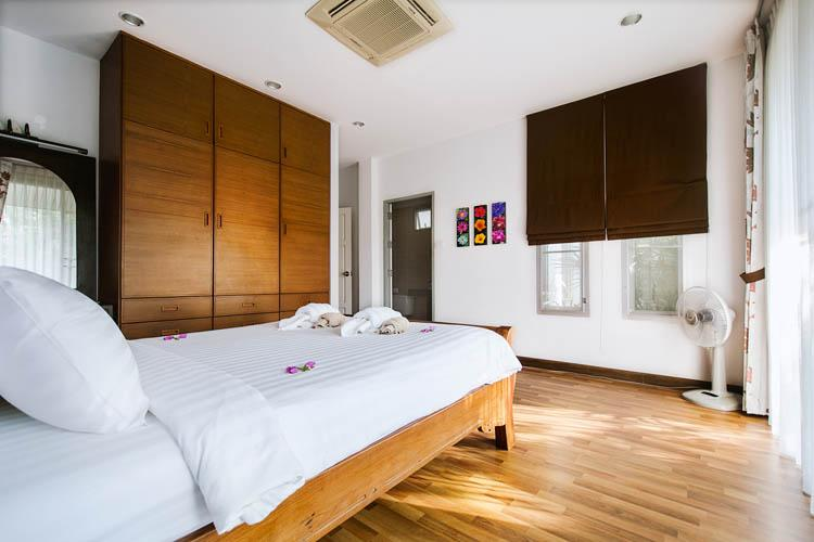 Second bedroom with private terrace.