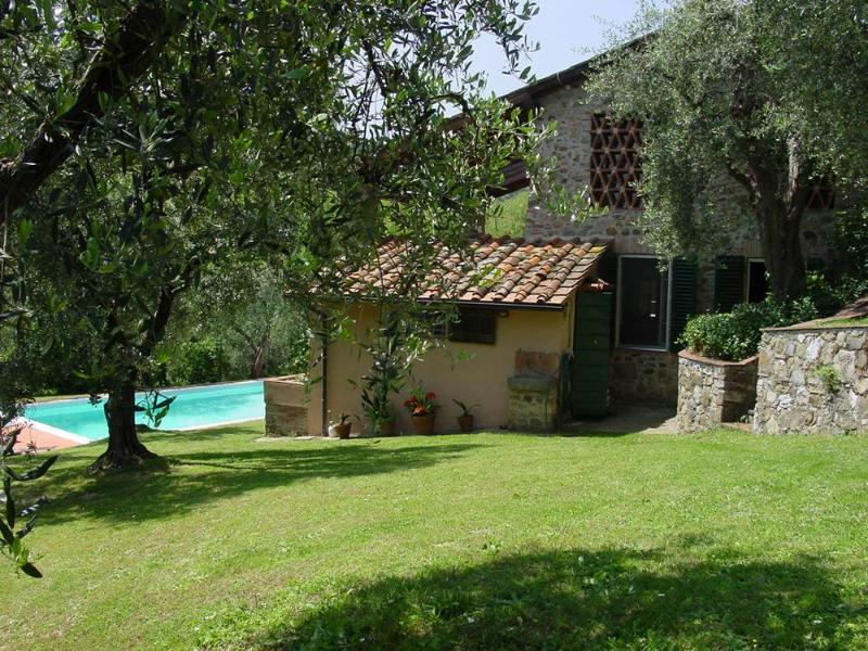 Villa swimming pool in Lucca, holiday rental in Mastiano