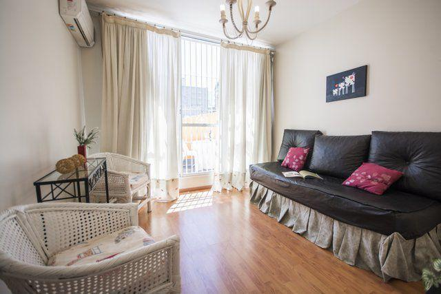 Upper floor. Bedroom with 1 bed, balcony. Air conditioning.