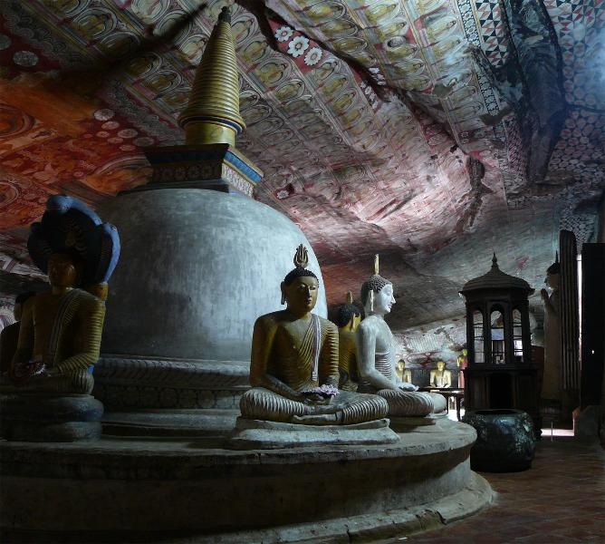 Dambulla. The ancient cave temples.
