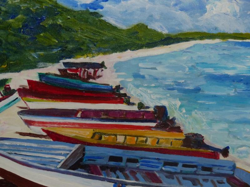 Artist's tribute to our island's local seamen