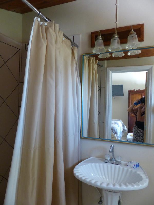 simple and clean private bathrooms with showers for all 3 studios on 1st floor