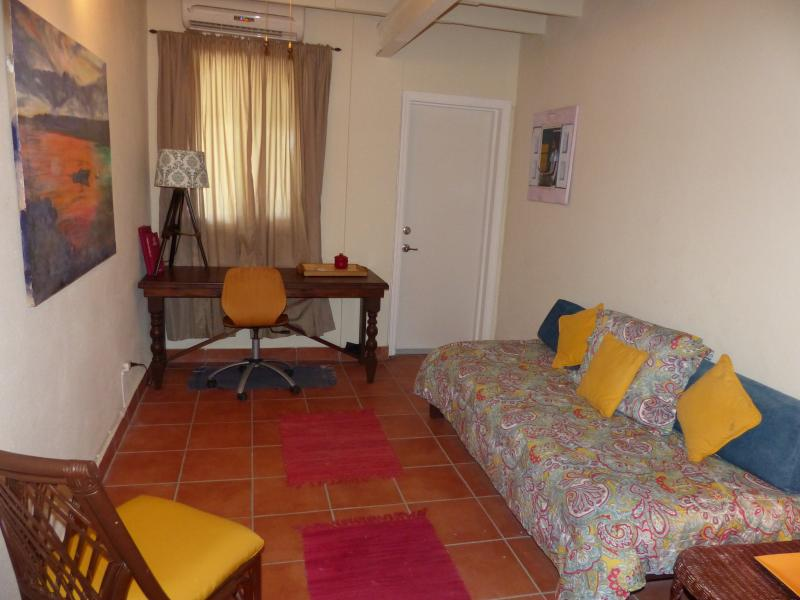 2 twin beds available for this colorful and fun middle bedroom on 2nd floor