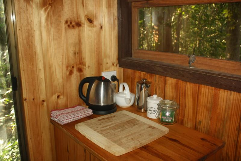 A small range of complementary Teas, Coffee and fresh milk provided for guests convenience.