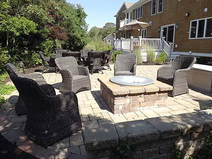 View of Fire Pit / Patio / Deck