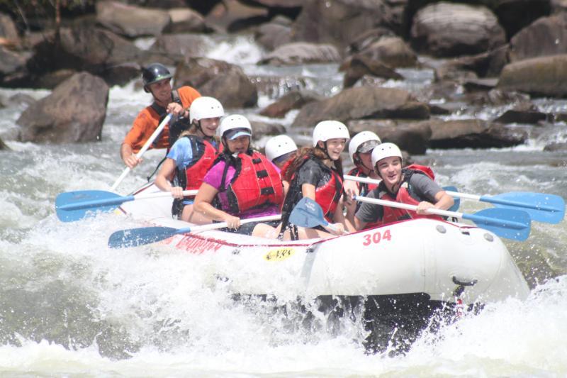 Summer time fun whitewater rafting