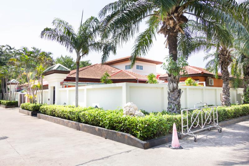 Our home painted with orange color, just opposite the Office of VTV View Talay Villas management