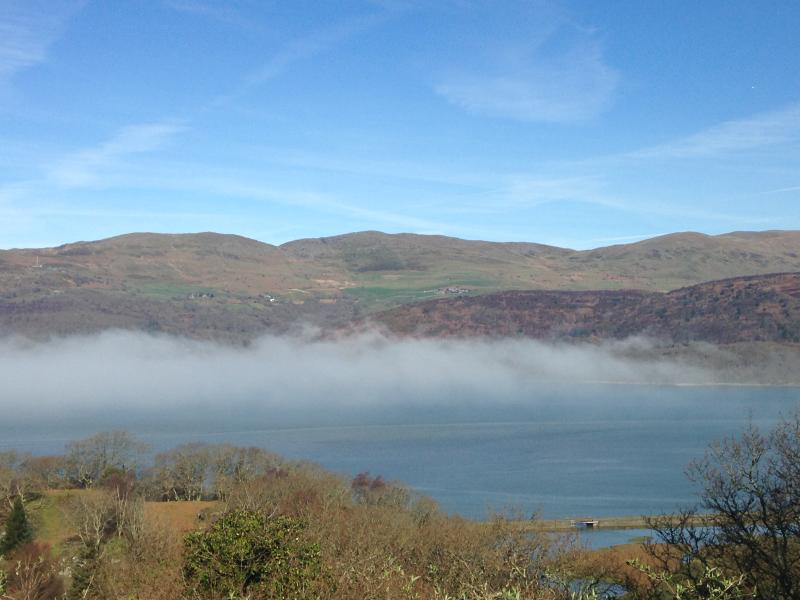 Morning view of the Mawddach Estuary from Pine Cottage