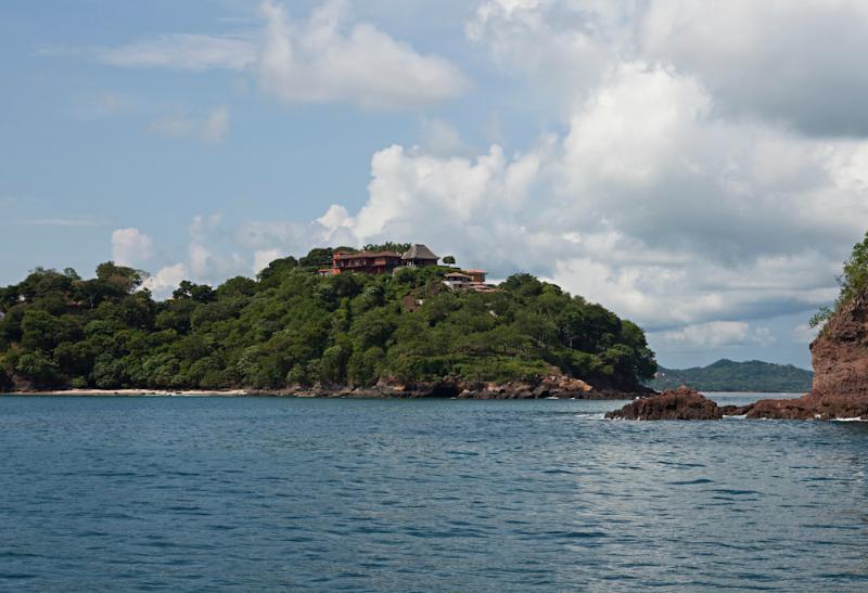 Vista de la casa del océano