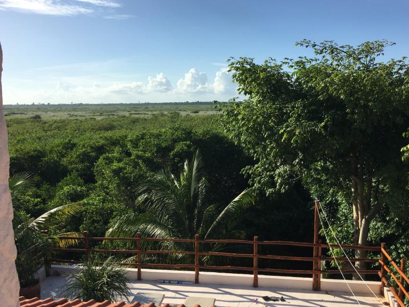 Sunset Sunrise overlooking lush tropical nature, holiday rental in Puerto Morelos