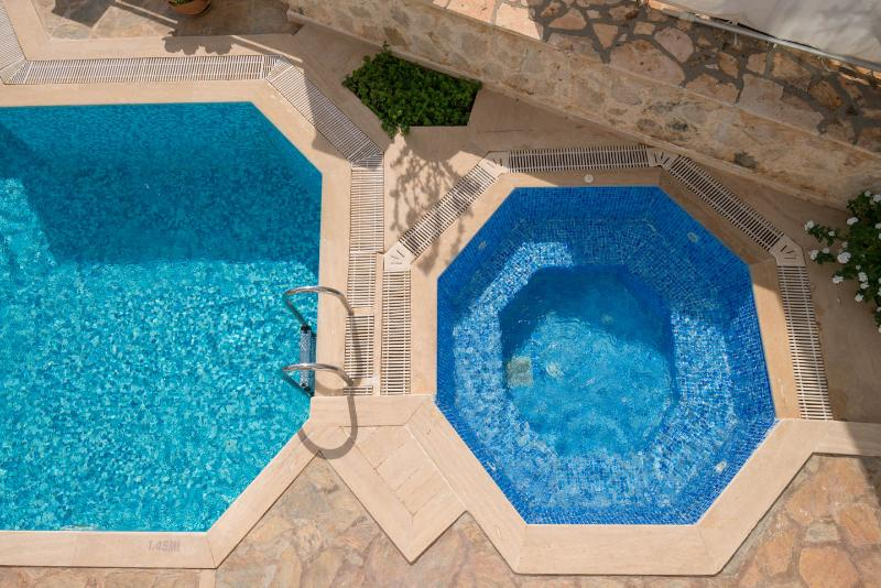 Villa Alev's private pool and Jacuzzi