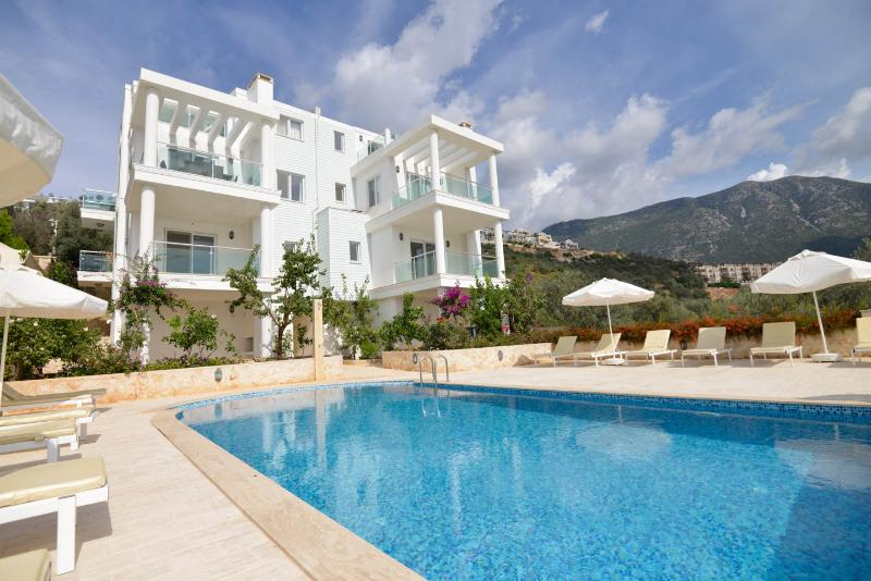 seulement 1 autre appartement partage cette belle piscine et jardin