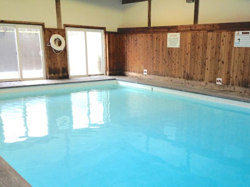 Our huge indoor pool. Light, bright, fun