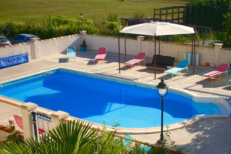 The enclosed and solar heated swimming pool