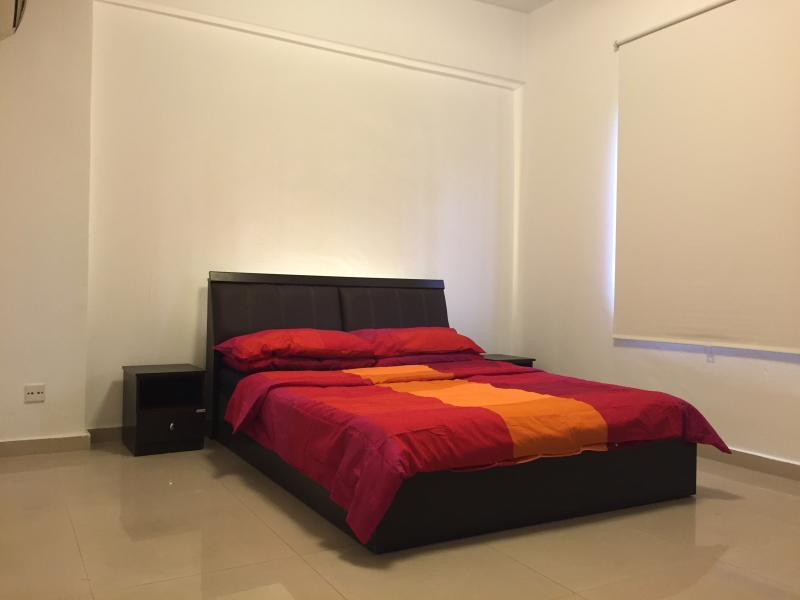Double bedded room with attached bathroom