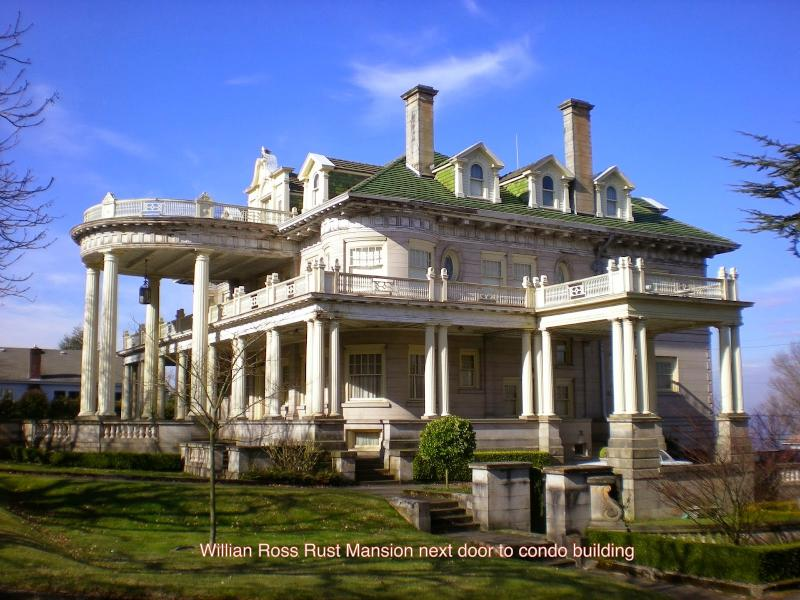 William Ross Rust Mansion - next to condo property