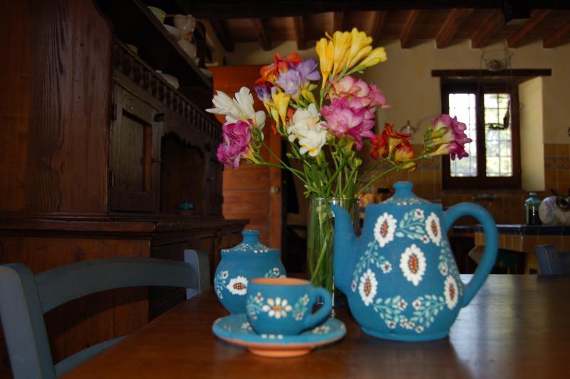 Pausa caffè in cucina