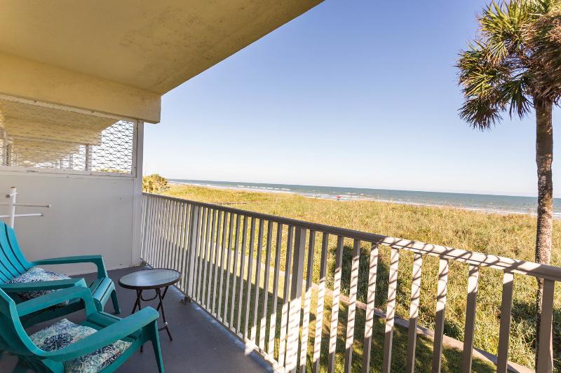 Balcony overlooking the dunes and the beach