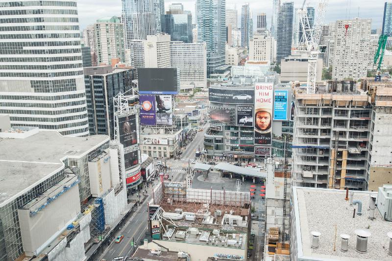 View to Dundas Square from Living Room