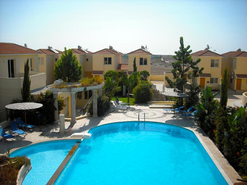 very large pool and garden area with toilets and showers with secure access only