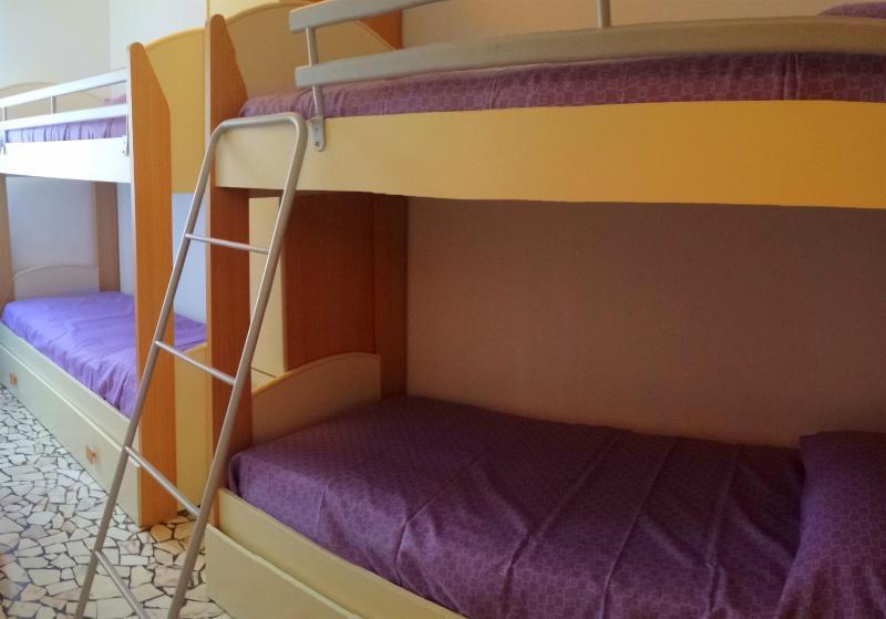 La camera con 2 letti castello