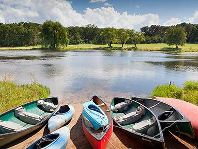 Kayaking, Fishing, Mini-Golf, and Bean-Bag Toss (a.k.a. 'Corn Hole') all available on property.