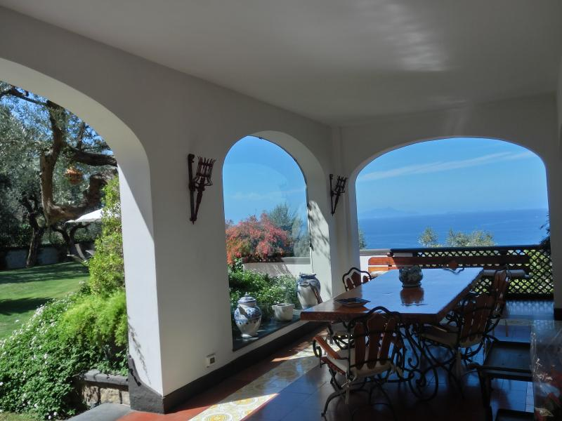 our patio overlooking the sea