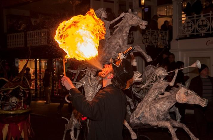 Fire-eater at the Winter Watch Parade in December