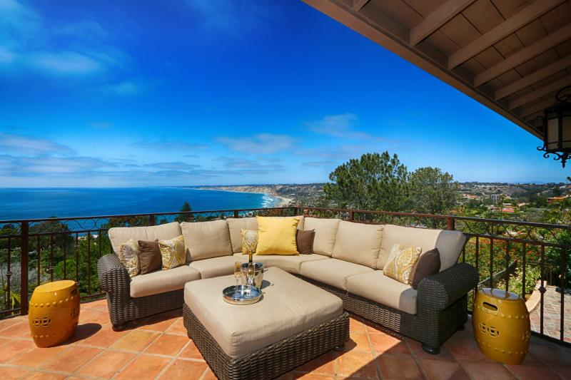 Spacious terrace off the main level, great for entertaining.
