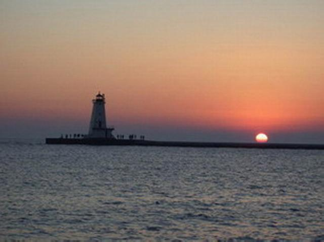 Lake Michigan beaches & lighthouses in Ludington, Michigan.  Shopping & dining.