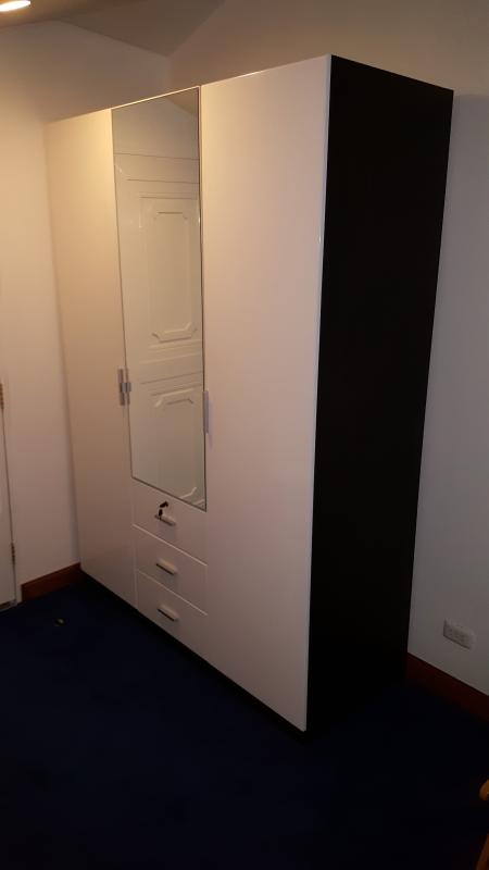 Big cupboard for your belongings and travel luggage's. First drawer of them may be locked by key.